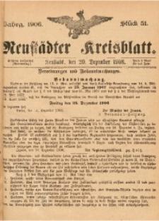 Neustädter Kreisblatt, 1906, Jg. 64, St. 51