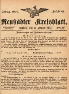 Neustädter Kreisblatt, 1907, Jg. 65, St. 41