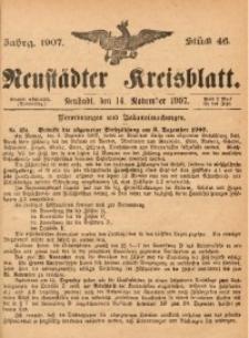 Neustädter Kreisblatt, 1907, Jg. 65, St. 46