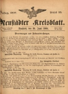 Neustädter Kreisblatt, 1908, Jg. 66, St. 25