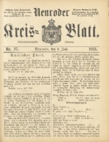 Neuroder Kreis-Blatt, 1881, Jg. 27, Nr. 27