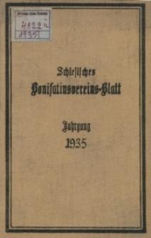 Schlesisches Bonifatiusvereins-Blatt, 1935, Jg. 76, Inhalt