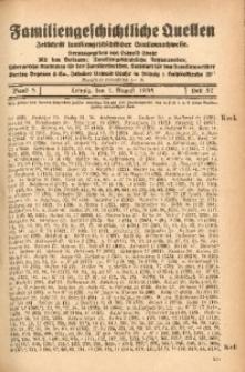 Familiengeschichtliche Quellen, 1934/1937, Bd. 8, H. 57 (Keck-Kiel)