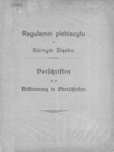 Regulamin plebiscytu na Górnym Śląsku