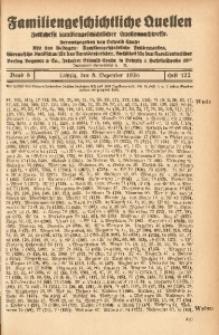 Familiengeschichtliche Quellen, 1934/1937, Bd. 8, H. 122 (Wede-Wels)