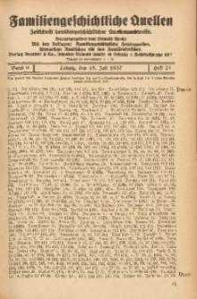 Familiengeschichtliche Quellen, 1937/1939, Bd. 9, H. 21 (Danie-Dess)