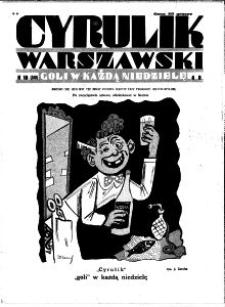 Cyrulik Warszawski, 1931, R. 6, nr 10