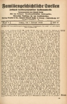 Familiengeschichtliche Quellen, 1937/1939, Bd. 9, H. 47 (Höhl-Holl)