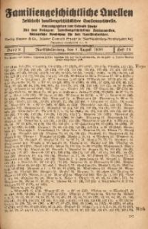 Familiengeschichtliche Quellen, 1937/1939, Bd. 9, H. 71 (Meye-Möll)