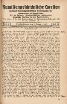 Familiengeschichtliche Quellen, 1937/1939, Bd. 9, H. 91 (Saba-Satt)