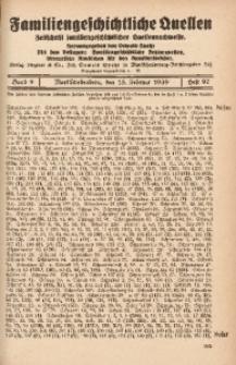 Familiengeschichtliche Quellen, 1937/1939, Bd. 9, H. 97 (Scho-Schu)