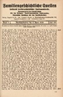 Familiengeschichtliche Quellen, 1937/1939, Bd. 9, H. 104 (Stei-Stöb)