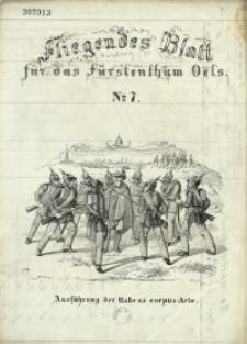 Fliegendes Blatt für das Fürstenthum Oels, 1848, No 7