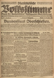 Oberschlesische Volksstimme, 1920, Jg. 46, Nr. 327