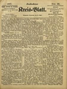 Frankensteiner Kreis-Blatt, 1887, Nro. 30