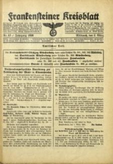 Frankensteiner Kreisblatt, 1938, Nr. 17