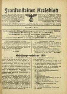 Frankensteiner Kreisblatt, 1938, Nr. 22