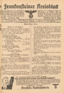 Frankensteiner Kreisblatt, 1940, Nr. 25