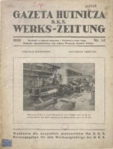 Gazeta Hutnicza B.K.S., 1930, nr 1/2
