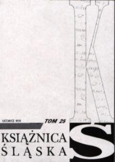 Książnica Śląska, 1988/1994, T. 25