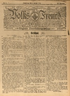 Volks-Freund, 1912, Jg. 38, Nr. 2