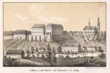 Schloss und Kirche zu Neurode i. J. 1739.