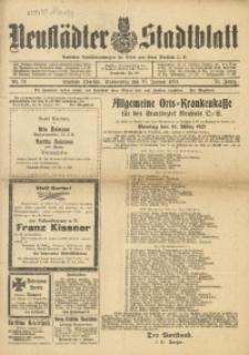 Neustädter Stadtblatt, 1921, Jg. 76, Nr. 10