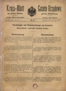 Kreis-Blatt des Kreises Bendzin, 1916, Nr. 27