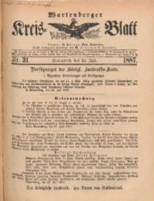 Wartenberger Kreis-Blatt, 1887, Nr. 31