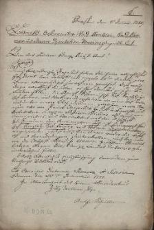 Odpisy rozporządzeń wydawanych przez Gubernium morawsko-śląskie w Brnie dla władz Obwodu Brneńskiego w 1 półroczu 1783 r.