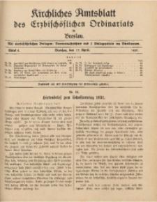 Kirchliches Amtsblatt des Erzbischöflichen Ordinariats in Breslau, 1931, Stück 8