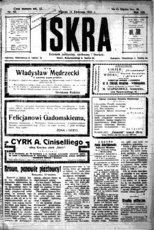 Iskra. Dziennik polityczny, społeczny i literacki, 1922, R. 13, nr 83