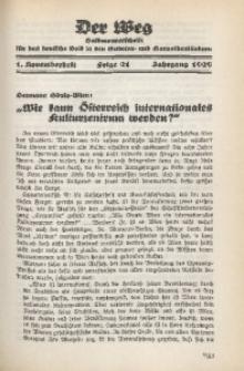 Der Weg, 1929, Jg. 1, Folge 21 (1. Novemberheft)