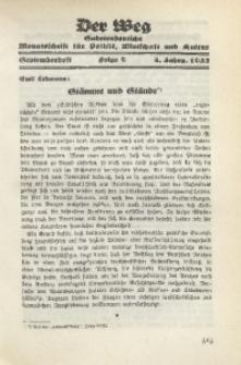 Der Weg, 1932, Jg. 4, Folge 9 (Septemberheft)
