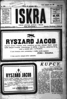 Iskra. Dziennik polityczny, społeczny i literacki, 1922, R. 13, nr 206