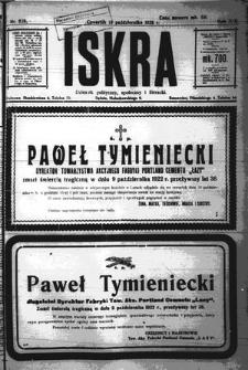 Iskra. Dziennik polityczny, społeczny i literacki, 1922, R. 13, nr 228