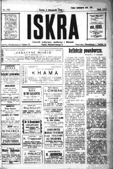 Iskra. Dziennik polityczny, społeczny i literacki, 1922, R. 13, nr 250
