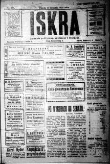 Iskra. Dziennik polityczny, społeczny i literacki, 1922, R. 13, nr 255