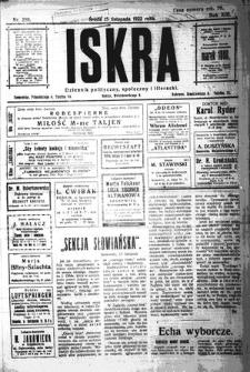 Iskra. Dziennik polityczny, społeczny i literacki, 1922, R. 13, nr 256