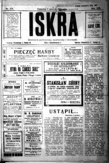Iskra. Dziennik polityczny, społeczny i literacki, 1922, R. 13, nr 275