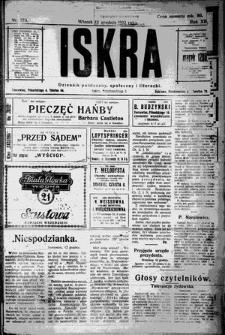 Iskra. Dziennik polityczny, społeczny i literacki, 1922, R. 13, nr 278