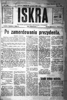 Iskra. Dziennik polityczny, społeczny i literacki, 1922, R. 13, nr 284