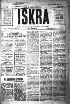 Iskra. Dziennik polityczny, społeczny i literacki, 1922, R. 13, nr 285