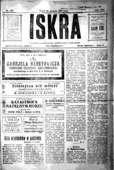 Iskra. Dziennik polityczny, społeczny i literacki, 1922, R. 13, nr 287