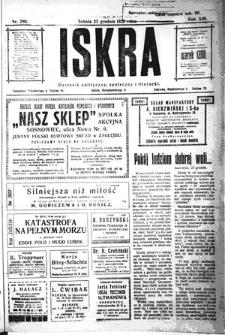 Iskra. Dziennik polityczny, społeczny i literacki, 1922, R. 13, nr 288