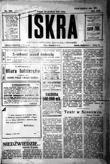 Iskra. Dziennik polityczny, społeczny i literacki, 1922, R. 13, nr 290