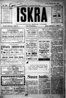 Iskra. Dziennik polityczny, społeczny i literacki, 1922, R. 13, nr 292