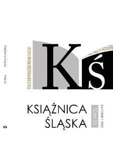 Książnica Śląska, 2020, T. 31