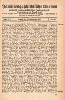 Familiengeschichtliche Quellen, 1926/1927, Bd. 2, H. 47 (Weid-Wiela)