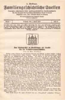 Familiengeschichtliche Quellen, 1926/1930, Bd. 1, H. 5. - 2. Aufl.